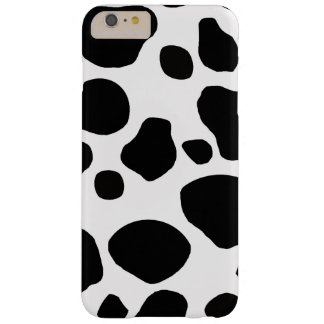 Black White Cow Spots Barely There iPhone 6 Plus Case