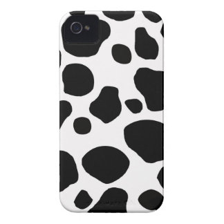 Black White Cow Spots Print iPhone 4 Case-Mate