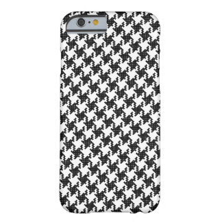 Black&white cross-stitch Houndstooth Pied-de-Poule Barely There iPhone 6 Case