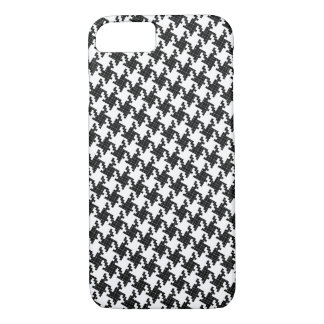Black&white cross-stitch Houndstooth Pied-de-Poule iPhone 8/7 Case