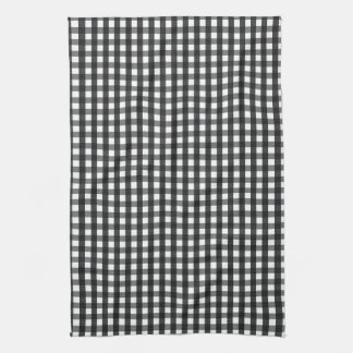 Black & White Crosshatch Dish Towel