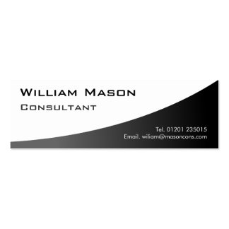 Black White Curved Professional Business Card