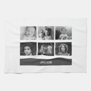 Black & White Personalised Tea Towel