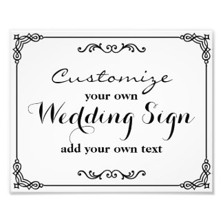 Black & White - Customize your own wedding sign -