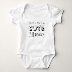Black, White & Cute All Over, Biracial Cutie Baby Bodysuit
