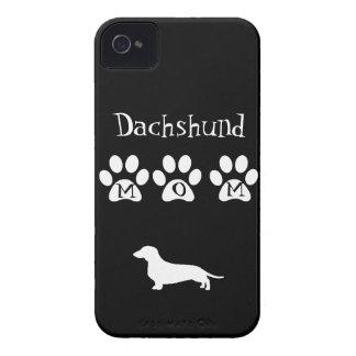 Black/White Dachshund Mom iPhone 4 Covers