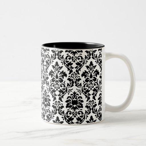 Black & White Damask Coffee Mug