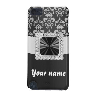 Black & white damask customizable iPod touch (5th generation) cover
