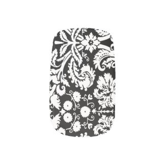 Black White Damask Nail Coverings Minx Nail Art