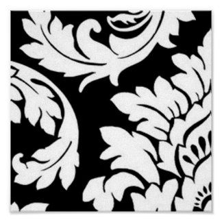 Black & White Damask Poster