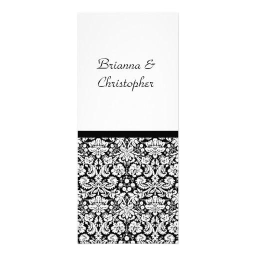 Black & White Damask Wedding Invitation