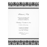 Black White Damask Wedding Vow Renewal Invitations