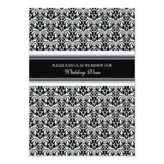 Black White Damask Wedding Vow Renewal Invitations
