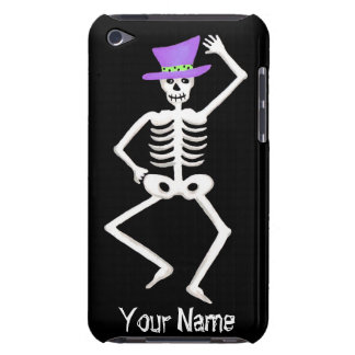 Black White Dancing Skeleton Bones Halloween Barely There iPod Cover