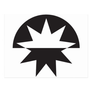 Black White Deco Star Sunburst Postcard