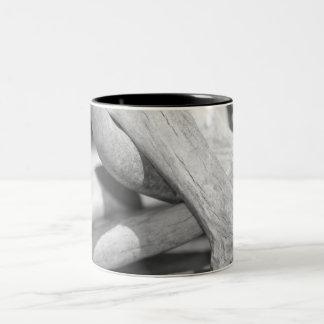 Black & White Deer Sheds Two-Tone Mug