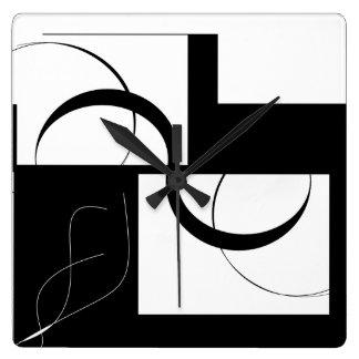 Black&White Design Square Wall Clock