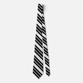 Black & White Diagonal Stripes Tie