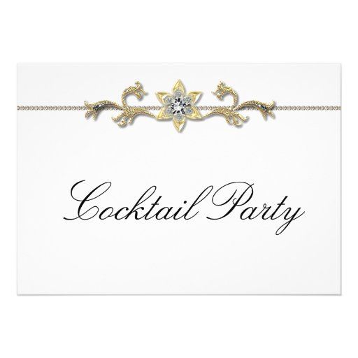 Black White Diamond Black White Cocktail Party Announcements