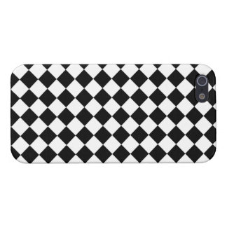 Black White Diamond Checkers iPhone 5 Cases