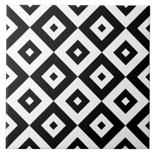 Black & White Diamonds Pattern | Ceramic Tile