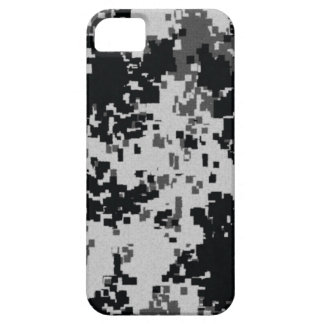 Black & White Digital Camouflage Case For The iPhone 5