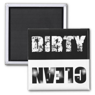 Black & White Dirty/Clean Dishwasher Magnet