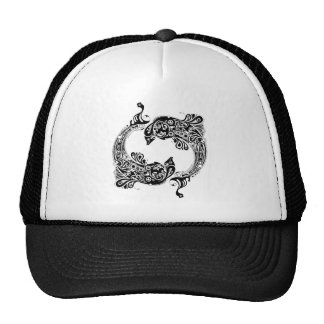 Black & White Dolphins-Tattoo Style Cap