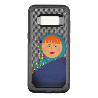 Black White Dots Cartoon Girl Bold Colorful Square OtterBox Commuter Samsung Galaxy S8 Case