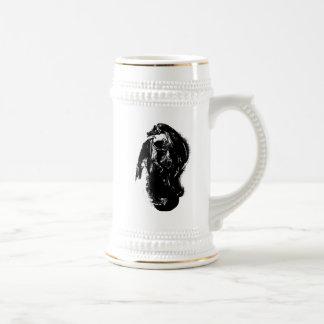 Black & White Dragon Beer Stein