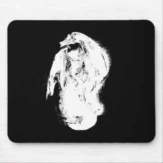 Black & White Dragon Mouse Pad