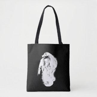Black & White Dragon Tote Bag