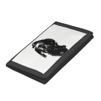 Black & White Dragon Tri-fold Wallet