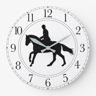 Black & White Dressage Clock