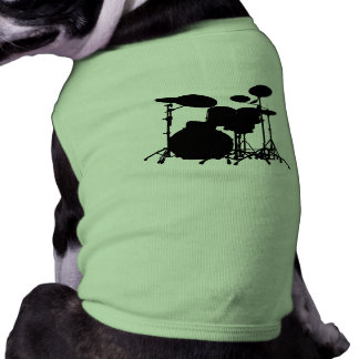 Black & White Drum Kit Silhouette - For Drummers Shirt
