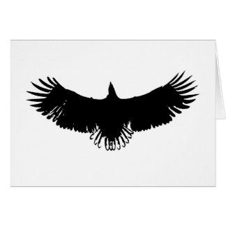 Black & White Eagle Silhouette Greeting Card