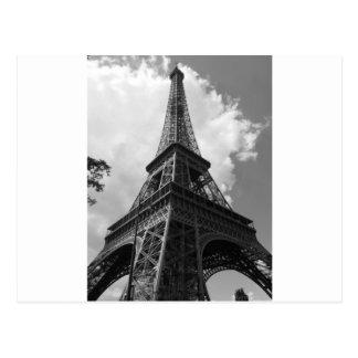 Black & White Eiffel Tower in Paris Postcard