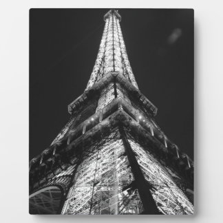 Black White Eiffel Tower Paris Europe Travel Plaque