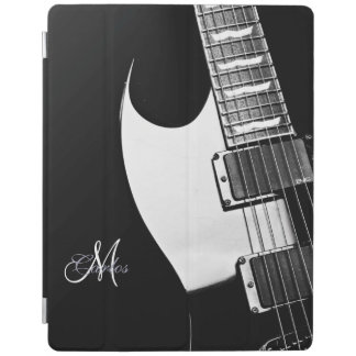Black White Electric Guitar Personalized iPad Case iPad Cover