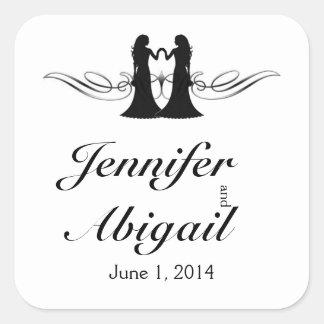 Black White Elegance Brides Wedding Envelope Seal
