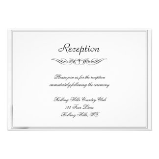 Black White Elegance Brides Wedding Reception Personalized Announcement