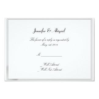Black White Elegance Brides Wedding Response Card