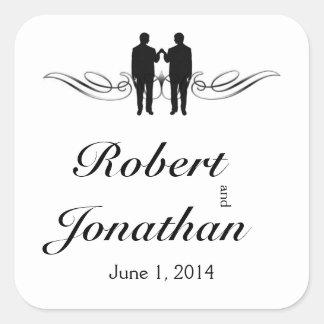 Black White Elegance Groom Wedding Envelope Seal