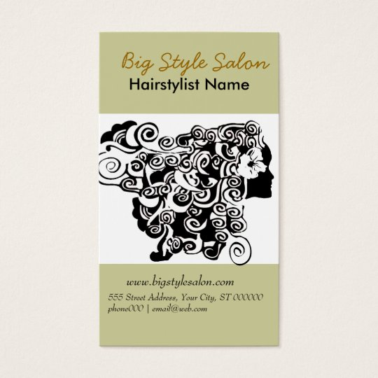 Black White Elegant Flowing Hair Spa Salon Stylist