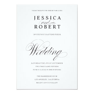 Black And White Wedding Invitations & Announcements