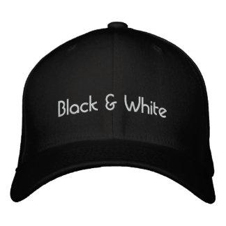 black & white baseball cap