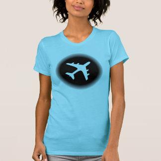 Black white fade airplane design T-Shirt