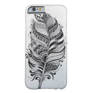 Black & White Feather iPhone 6/6s Case