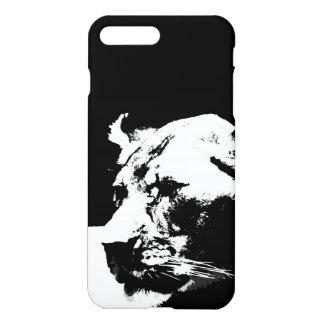 Black & white female lion pop art iPhone 7 plus case