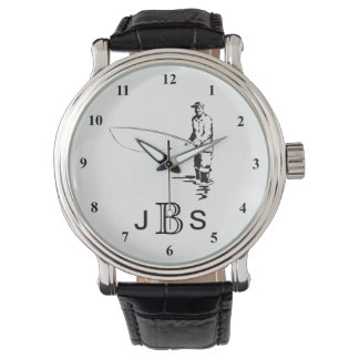 Black White Fisherman | Masculine Monogram Watch